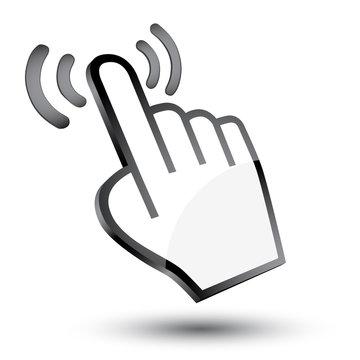 cursor hand 3d icon