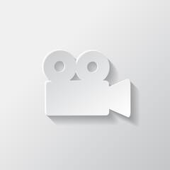 Video camera web icon. Cinema symbol.