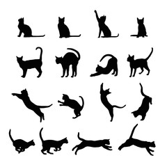 Cats  silhouette collection, vector