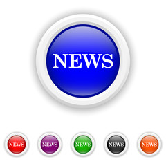 News icon - six colours set vector