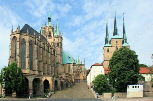 Fototapete Dom St. Marien und Kirche St. Severi Erfurt