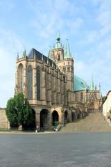 Fototapete - Dom St. Marien in Erfurt - Erfurter Dom
