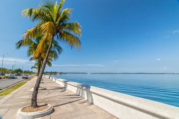 Embankment of Carribean sea in Cienfuegos, Cuba