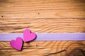 Herzen auf Holz