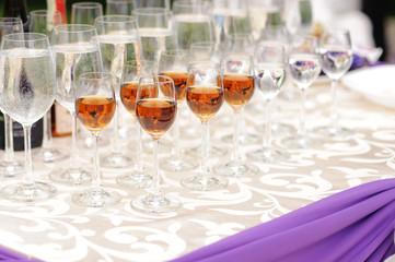 Full Glasses on Table