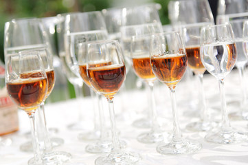 Glasses with Cognac