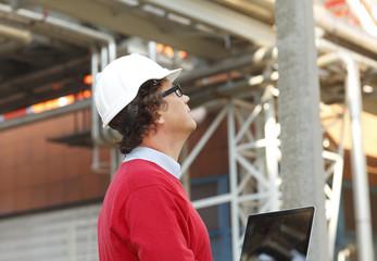 Close-up portrait of construction architect