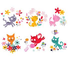 cute kittens set