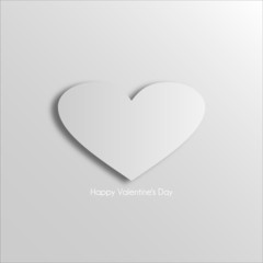 Romantic background with hearts for Valentine's Day