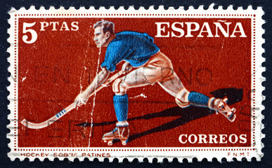 Postage stamp Spain 1960 Hockey on Roller Skates