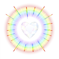 Crystal Heart Rainbow