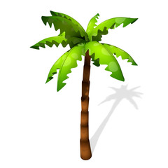 3d illustration of a cartoon palm tree