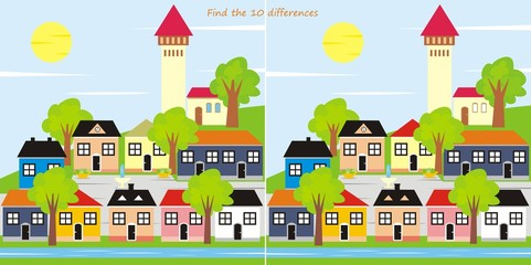 town - 10 differences