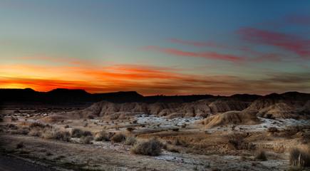 The Bardenas Reales biosphere reserve, desert landscape.Navarre