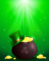 Magic Patricks day background