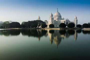 Vctoria Memorial, Kolkata , India - reflection on water.