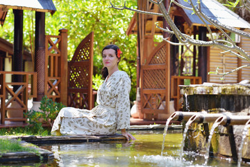 spa treatment at tropical resort
