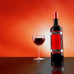 Wine Bottle & Glass1