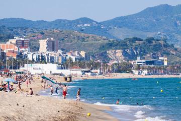 Sea beach in Badalona, Spain