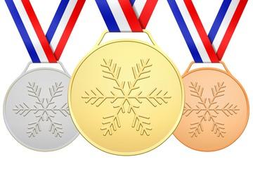 3 Médailles françaises pour les jeux d'hiver