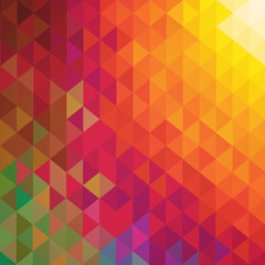 Abstract raster polygonal ornamental background.
