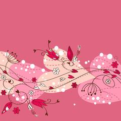Elegant floral postcard