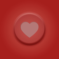 Valentine Card button. Happy valentines day