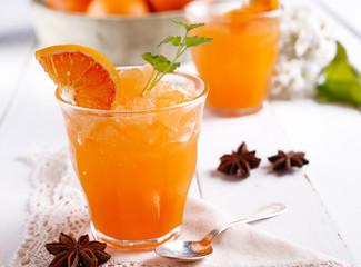 granita al gusto di arancia rossa di Sicilia