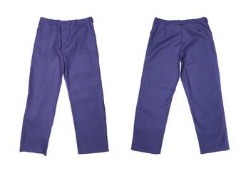 Working pants blue color.