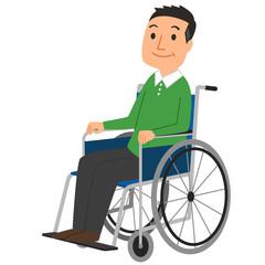車椅子-男性