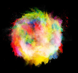 colored dust ball