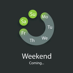 Weekend's Coming - Smiley Concept Design