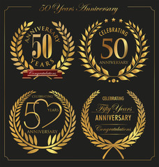 Anniversary golden laurel wreath, 50 years