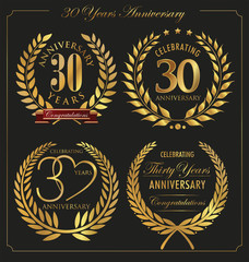Anniversary golden laurel wreath, 30 years