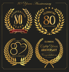 Anniversary golden laurel wreath, 80 years