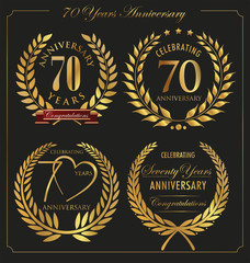 Anniversary golden laurel wreath, 70 years