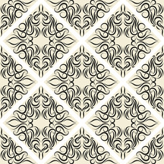 seamless wallpaper.damask pattern.abstract background