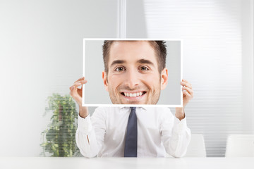 Businessman with big smile