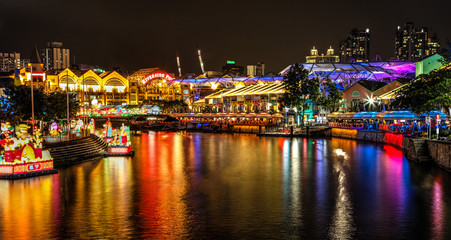 Chinese Lantern Festival on Singapore River at Clarke Quay