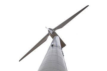 Isolated Wind Turbine Seen from Below