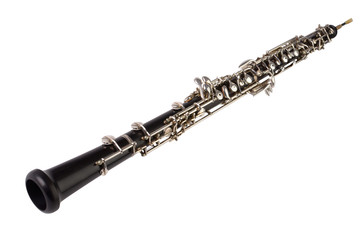 Oboe auf weissem Hintergrund