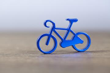 small metallic bicycle