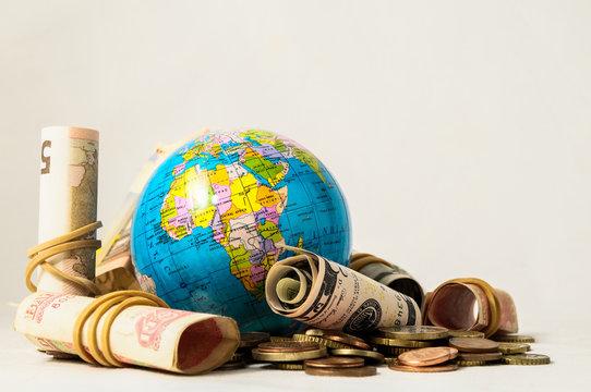 Globe Earth and Money