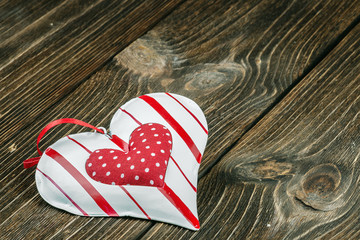 heart toy on a wooden table