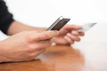 Online banking using smartphone and credit card