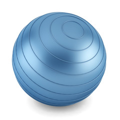 Blue fitness ball
