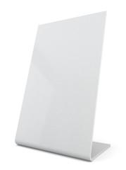 White plastic ad plate