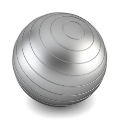 Gray fitness ball