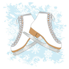 Ice skates background