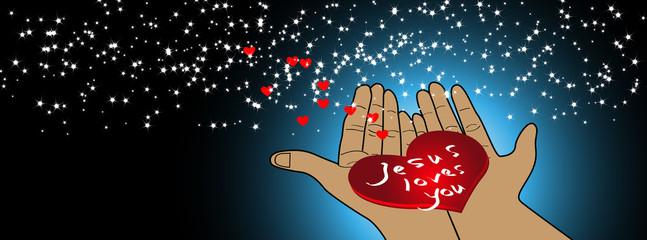 Jesus loves you - facebook timeline